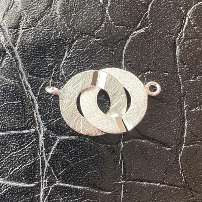 Закопчалка от сатенирано сребро 925