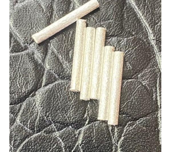 Тръбички от сатенирано сребро 925
