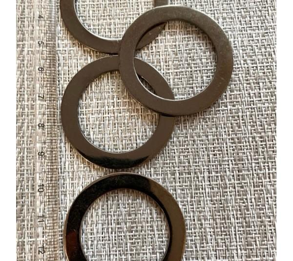 Метален елемент за бижута 40 мм - графит